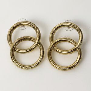 Double Hoop Drop earrings